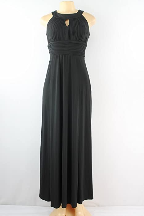 Sangria black maxi dress