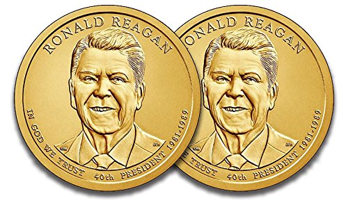 2016 P & D Presidential Dollar Ronald Reagan Uncirculated