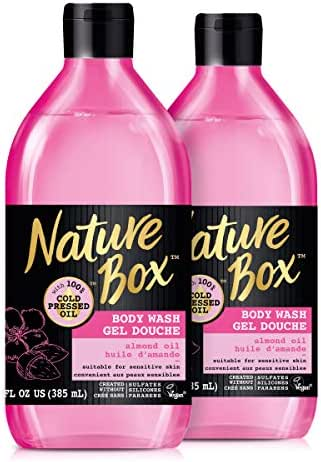 Nature Box Body Wash - for Sensitive Skin, With 100% Cold Pressed Almond, 13 Ounce, 2 Pack, 2 Count