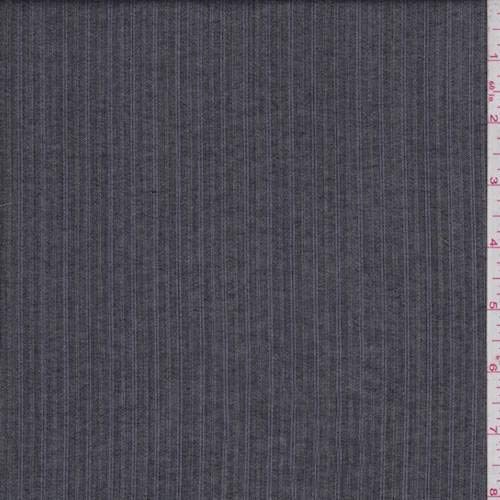 (Charcoal/Purple Pinstripe Tropical Wool, Fabric by The Yard)