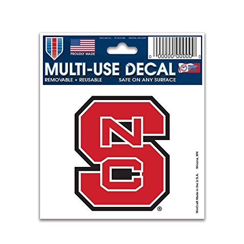 "NCAA Multi-Use Decal (3""x4"") (North Carolina State Wolfpack)"