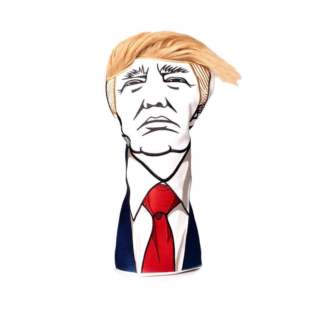 Pins & Aces Golf Co. Keep America Great Premium Driver Headcover - Quality Leather, Hand-Made 1 Wood Head Cover - Style and Customize Your Golf Bag - Tour Inspired, Donald Trump Golf Design by Pins & Aces Golf Co.