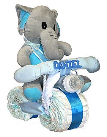 Tarta de pañales Dodot - Moto Elefanta azul - Mil Cestas f66b9df722d6b