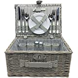 Homeworks 4-Person Willow Picnic Basket (Beige)