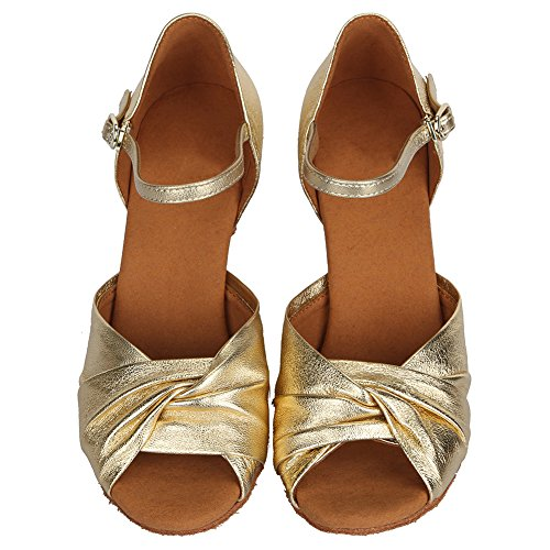 Genuine Dance HIPPOSEUS Latin Ballroom Gold Women's AF810 Shoes Leather Shoes Model ZwaqBqF