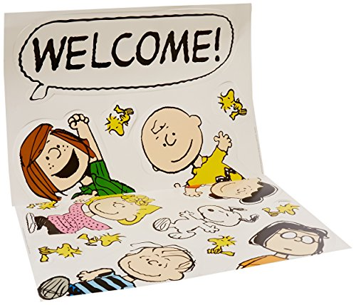 Eureka Charlie Brown Welcome Back to School Classroom Door Bulletin Board Decoration Set, 15 pcs]()