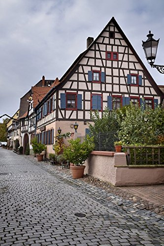 Home Comforts Laminated Poster Truss Hesse Ladenburg Old Town Germany Poster 24X16 Adhesive Decal