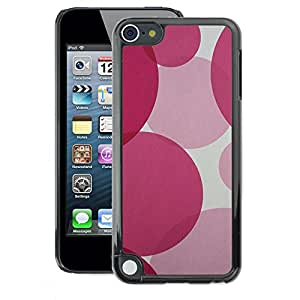 A-type Arte & diseño plástico duro Fundas Cover Cubre Hard Case Cover para Apple iPod Touch 5 (Round Fuchsia Pink Purple Pretty)