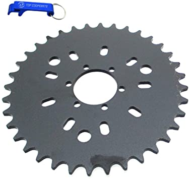 Chain Sprocket 9 Hole 44 Tooth Chain Sprocket for 49cc 66cc 80cc Engine Motorized Bicycle