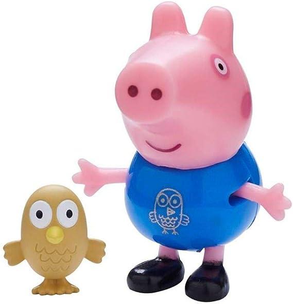 Character World Selección Figuras del Juego | Peppa Pig | Figura con Accesorios, Figura:George Pig con Búho: Amazon.es: Juguetes y juegos