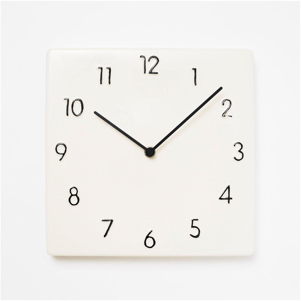 Chambre (シャンブル) CERAMIC CLOCK (壁掛け時計, ブラック) B06WRSZ1X4ブラック 壁掛け時計