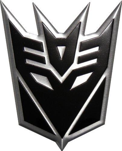 Transformers DECEPTICON BLACK LARGE Aluminum Emblem - Decepticon Car Decal