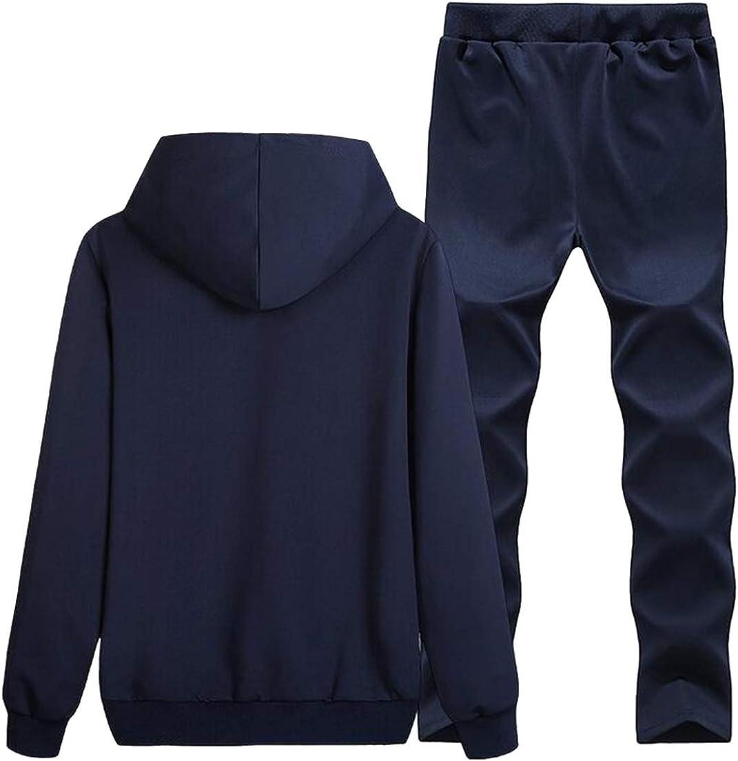 MMCP Mens Letter Print Slim Hoodies Sweatshirt+Pants Tracksuits Sweatsuits Outfits