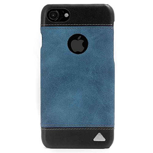 Stuffcool Outlaw Faux Leather Back Case Cover for Apple iPhone 7   Black/Blue