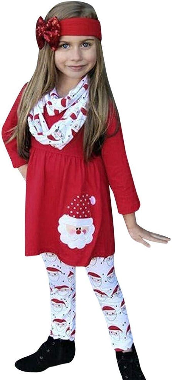 Disfraz Navidad Bebe niña Ropa casera Conjunto de 3 Piezas Manga ...
