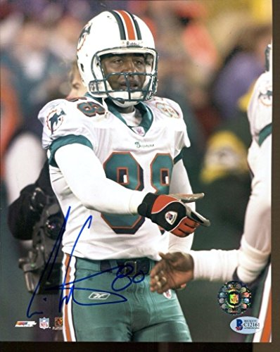 Cris Carter Signed Photo 8x10 Autographed Dolphins Beckett BAS C12161