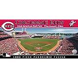 MasterPieces MLB Cincinnati Reds Stadium Panoramic Jigsaw Puzzle, 1000-Piece