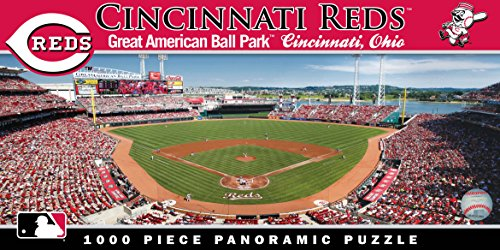 Sports Cincinnati Reds Baseball (MasterPieces MLB Cincinnati Reds Stadium Panoramic Jigsaw Puzzle, 1000-Piece)
