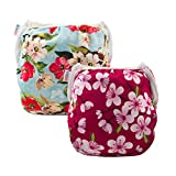 Alva Baby 2pcs Pack One Size Reuseable Washable Swim Diapers