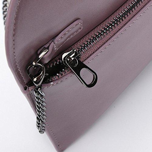 Shoulder Chain New Handbags Diagonal Grey Buckle Clutch Envelopes Fashion Round Personality PWBqxSBF