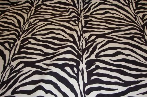 Zebra Brown Plush Upholstery Velvet Fabric Per Yard