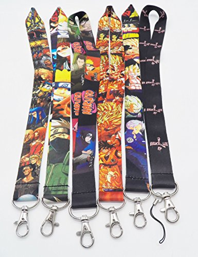 Yuna Kingdom Hearts - 6 Assorted Anime Characters Phone Key Chain Strap LANYARD Set #46
