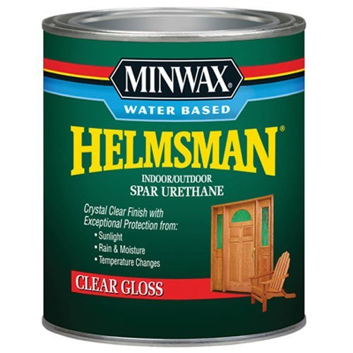 Minwax 630500444 Water Based Helmsman Spar Urethane, quart, Gloss (Furniture Varnish Wood Outdoor)