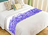 PicaqiuXzzz Custom Tree of Life Bed Runner, Purple Lavender Flowers Field Bed Runners And Scarves Bed Decoration 20x95 inch
