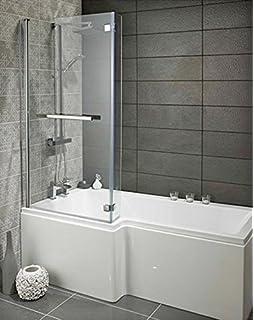 Badewanne mit duschzone komplett  Badewanne mit Duschzone MSDW02: Amazon.de: Baumarkt