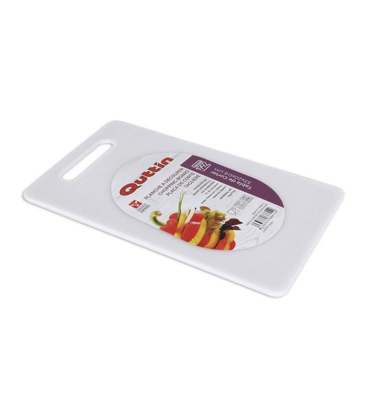 Tagliere da Cucina Quttin Bianco 33 x 20 x 0,6 cm