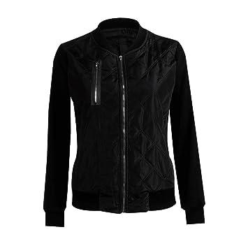 JJHR Chaqueta jacket Otoño Invierno Bomber Jacket Women 2018 Ejército Verde Manga Larga Chaquetas Básicas Negro Zipper Slim Coat Mujer Casual Piloto Parka: ...