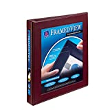 Avery Framed View Binders with One Touch 1-Inch EZD Ring, Holds 8.5 x 11 Inches Paper, Maroon (68029)