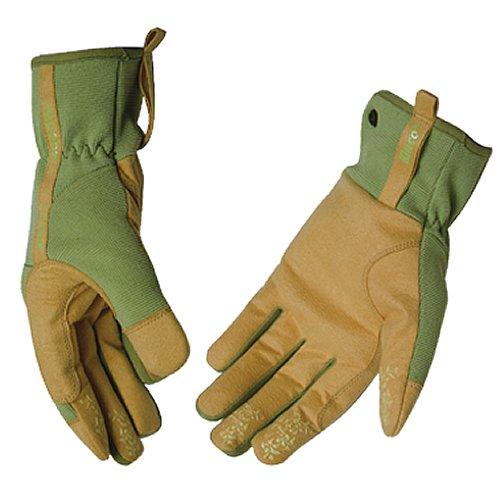 KINCO 2005W-S Women's MiraX2 Synthetic Leather Gloves, Small, Green/Yellow by KINCO INTERNATIONAL B01ADQMEKO