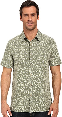 Royal Robbins Men's Fiesta Print Short Sleeve Top, Aloe, Medium