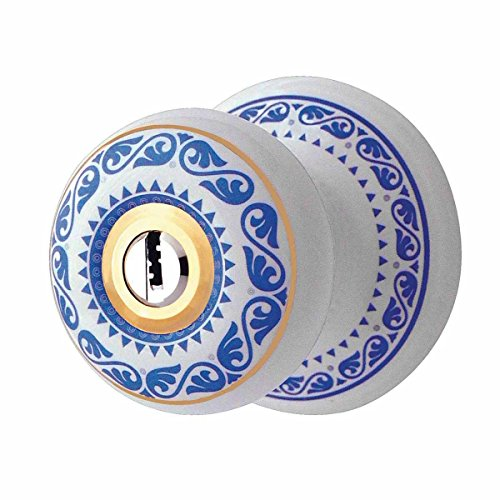 IntandExt Keyed Door Knob Lock Set Porcelain Ajustable Backset |Renovator's Supply (Porcelain Door Knob Set)