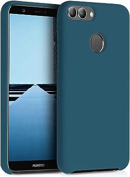 - Carcasa de TPU Silicona 2017 kwmobile Funda Compatible con Huawei Enjoy 7S // P Smart Protector Trasero en Fucsia Mate