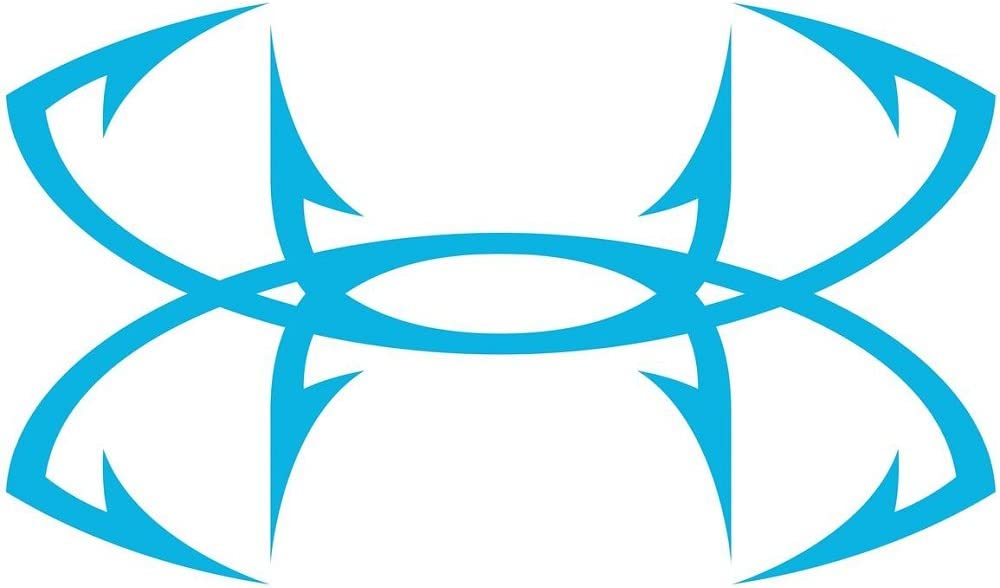 Under Armour Fish Hook Decal Blue 6