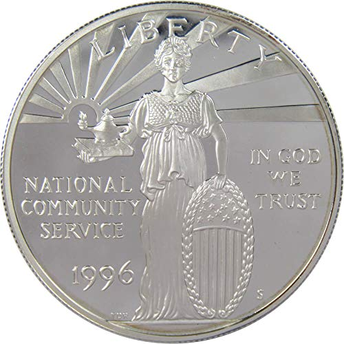 (1996 S National Community Service Commemorative Silver Dollar Choice Proof )