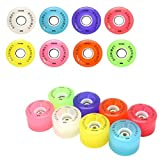 Luminous Light Up LED Quad Roller Skate Wheels - Now in 8 Colors - Red 4 Pack