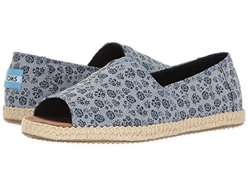 - TOMS Women's Alpargata Open Toe Blue Ditsy Floral Sandal