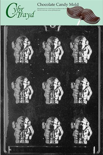 Cybrtrayd Life of the Party C003 Small Santa  Chocolate Candy Mold in Sealed Protective Poly Bag Imprinted with Copyrighted Cybrtrayd Molding Instructions
