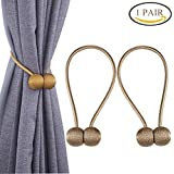 YIDIE 2 Pieces Curtain Tiebacks Classic European Window Holdbacks Home Office Decorative Drapes Holders with Strong Magnetic, Beige/1 Pair