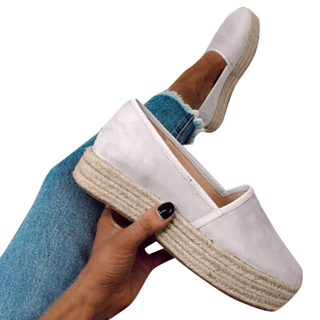 Ladies Casual Roman Plus-Size Single Shoes Comfy Sport Flat Casual Pumps Shoes Walking Shoes Womens Shoes