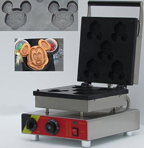 three pcs mickey minnie mouse shape belgian waffle maker/ co