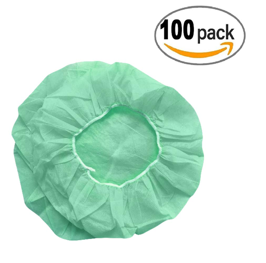 exam rooms Breathable labs Pack of 100 Nurse/'s caps for nurses and healthcare personnel Latex-free. AMZ Medical Bouffant Caps 24 Lightweight clinics Green polypropylene caps for hospital