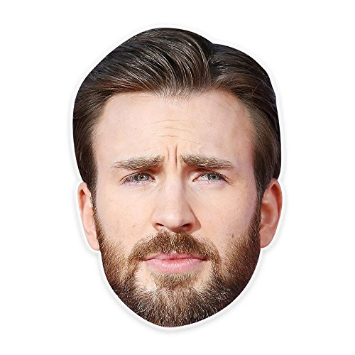 Confused Chris Evans Mask, Perfect for Halloween, Masquerades, Parties, Festivals, Concerts - Jumbo Size Waterproof -