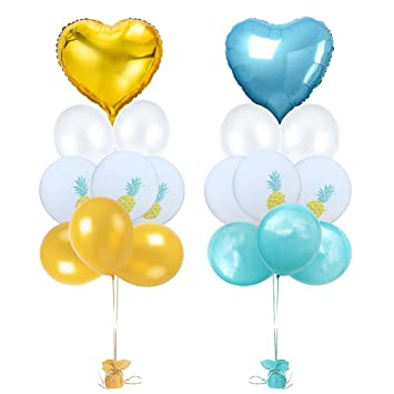 Amazon.com: Amosfun - Juego de 18 globos de tela de látex ...