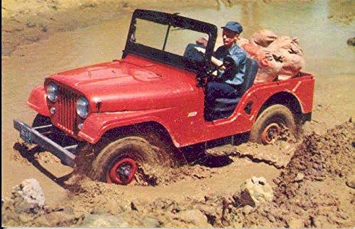 1962 Jeep CJ5 Foldover Factory Postcard
