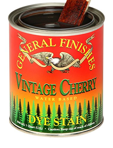 General Finishes Water Based Dye, 1 Pint, Vintage Cherry