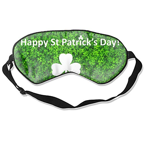 Eye St7 - Sleep mask & Blindfold,Cute Sleep mask, Silk Sleep Mask for A Full Night's Sleep,Sleep mask for Women (Happy St Patricks Day)
